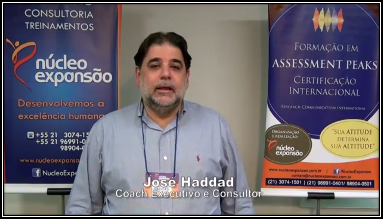 Depoimentos 1 de 2 - Curso de Formação e Certificação Internacional no Assessment PEAKS - turma 2014_1 - Rio de Janeiro/RJ
